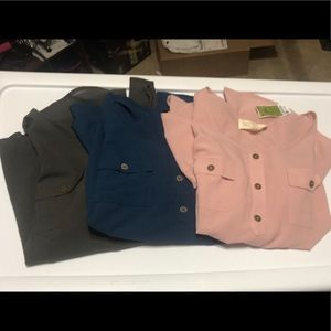Bundle of 3 long sleeve thin style blouses